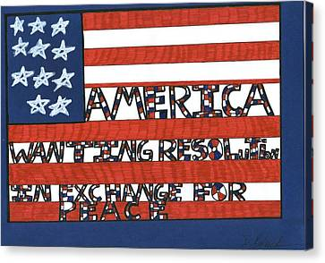 Flag Four Canvas Print by Darrell Black
