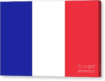 Canvas Print featuring the digital art Flag Of France High Quality Authentic Image by Bruce Stanfield