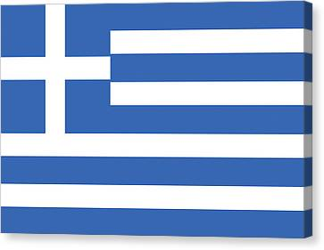 Flag Of Greece Canvas Print by Roy Pedersen