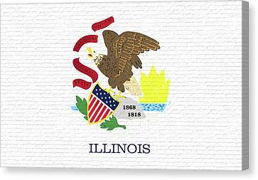 Flag Of Illinois Wall Canvas Print