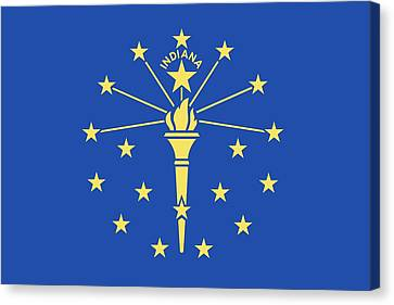 Flag Of Indiana Canvas Print by American School