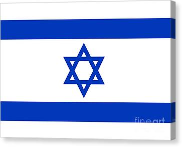 Flag Of Israel Authentic Version Canvas Print