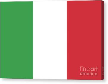 Canvas Print featuring the digital art Flag Of Italy by Bruce Stanfield