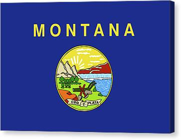 Flag Of Montana Canvas Print