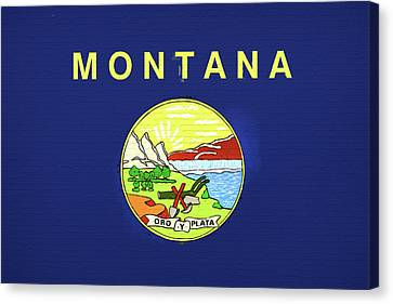Flag Of Montana Wall Canvas Print