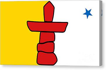 Flag Of Nunavut High Quality Authentic Hd Version Canvas Print by Bruce Stanfield
