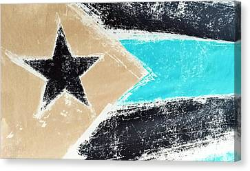 Flag Of Puerto Rico Negative Canvas Print by Rob Hans