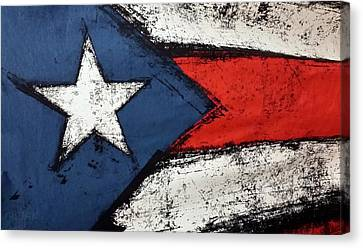 Flag Of Puerto Rico  Canvas Print by Rob Hans