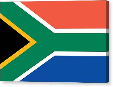 Flag Of South Africa Canvas Print by Unknown