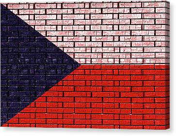 Flag Of The Czech Republic Graffiti Canvas Print by Roy Pedersen