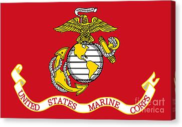 Flag Of The United States Marine Corps Canvas Print by Pg Reproductions