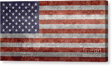 Flag Of The United States Of America  Vintage Retro Version Canvas Print by Bruce Stanfield