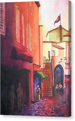 Flag Over St. Tropez Canvas Print by Karen Stark