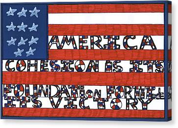 Flag Two Canvas Print