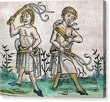 Flagellants, Nuremberg Chronicle, 1493 Canvas Print by Science Source