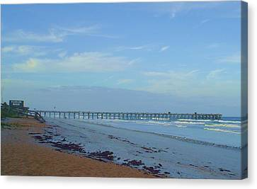 Flagler Morning Canvas Print by Cheryl Waugh Whitney