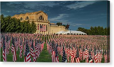 Flags Of Valor On Art Hill Canvas Print