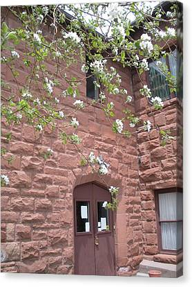Flagstaff Stone Church Canvas Print by Jeanette Oberholtzer