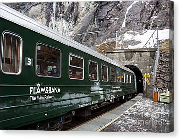 Flam Railway Canvas Print by Suzanne Luft