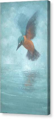 Flame In The Mist Canvas Print by Steve Mitchell