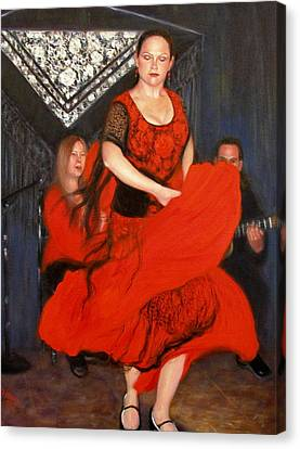 Canvas Print featuring the painting Flamenco 8 by Donelli  DiMaria