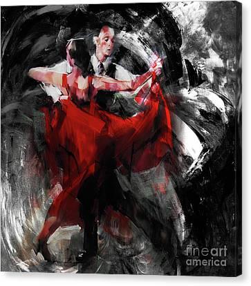 Flamenco Couple Dance  Canvas Print