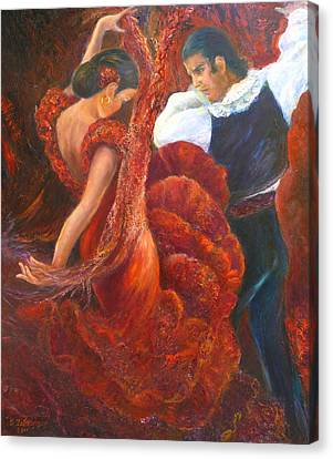 Flamenco Couple Canvas Print