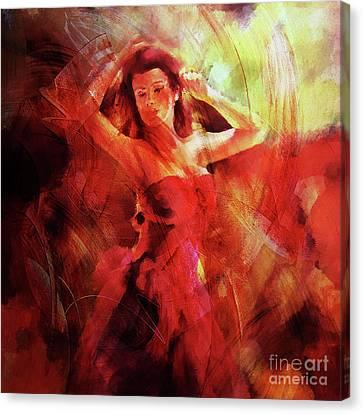 Flamenco Dance 03 Canvas Print