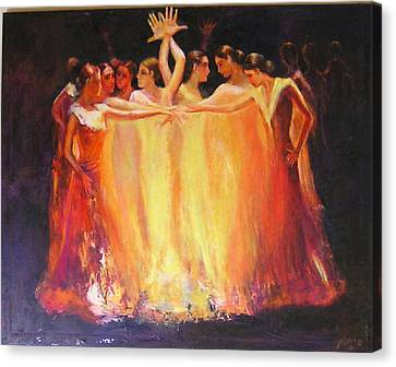 Flamenco Dance Of Light Canvas Print