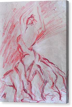 Canvas Print featuring the painting Flamenco Dancer 1 by Koro Arandia