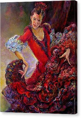 Flamenco Dancer 10 Canvas Print