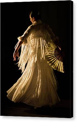 Dance Canvas Print - Flamenco Dancer by Elzbieta Petryka