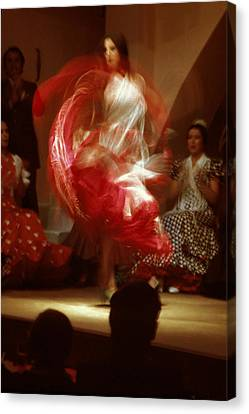 Flamenco Dancer In Seville Canvas Print