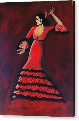 Flamenco Dancer Canvas Print by Janine Antulov