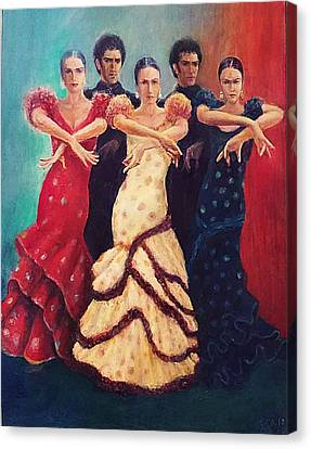 Flamenco Dancers 5 Canvas Print