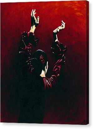 Flamenco Fire Canvas Print