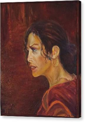 Flamenco Girl 1 Canvas Print