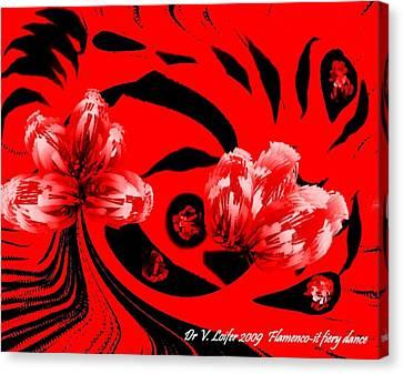 Flamenco-it Fiery Dance Canvas Print by Dr Loifer Vladimir