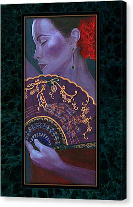 Canvas Print featuring the painting Flamenco  by Ragen Mendenhall
