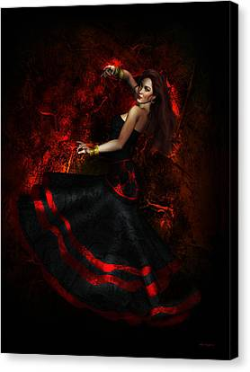 Flamenco Canvas Print by Shanina Conway