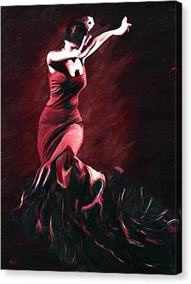 Flamenco Swirl Canvas Print