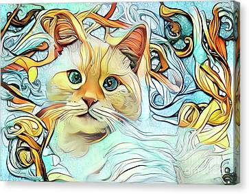 Flamepoint Siamese Cat Canvas Print