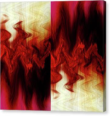 Flames Canvas Print by Cherie Duran