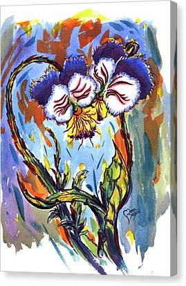 Flames Of Love Canvas Print