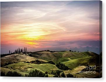 Flames Of Sunset Canvas Print