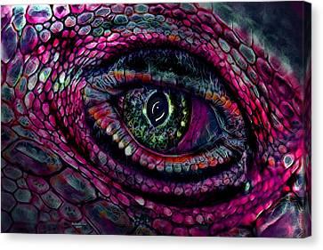 Flaming Dragons Eye Canvas Print