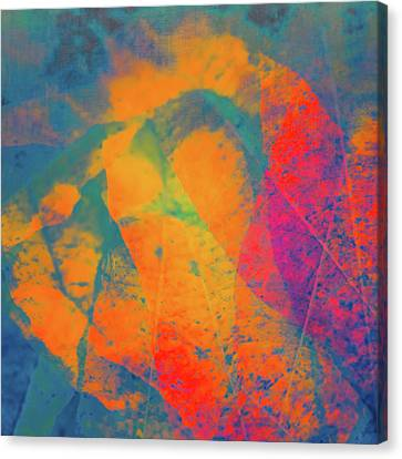 Canvas Print featuring the photograph Flaming Foliage 1 by Ari Salmela