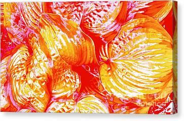 Flaming Hosta Canvas Print