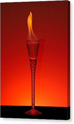 Flaming Hot Canvas Print by Gert Lavsen