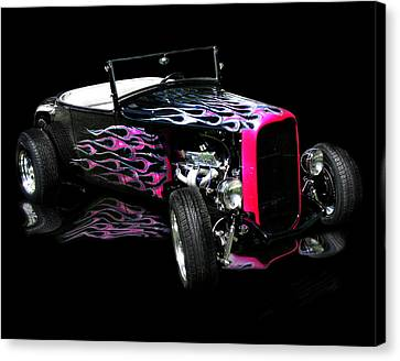 Flaming Hot Roadster  Canvas Print by Peter Piatt